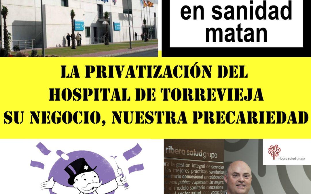 [Vega Baja] Posicionamiento del PCPE de la Vega Baja exigiendo la reconversión a Público del área de salud de Torrevieja