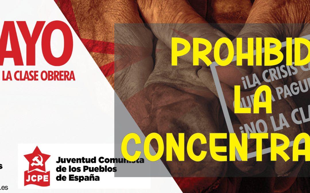 [Alacant] Comunicado del PCPE ante la prohibición de actos públicos el 1 de mayo en Alicante