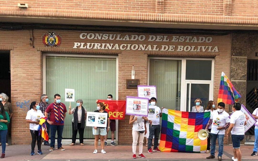 [Murcia] Concentración frente al Consulado de Bolivia en Murcia