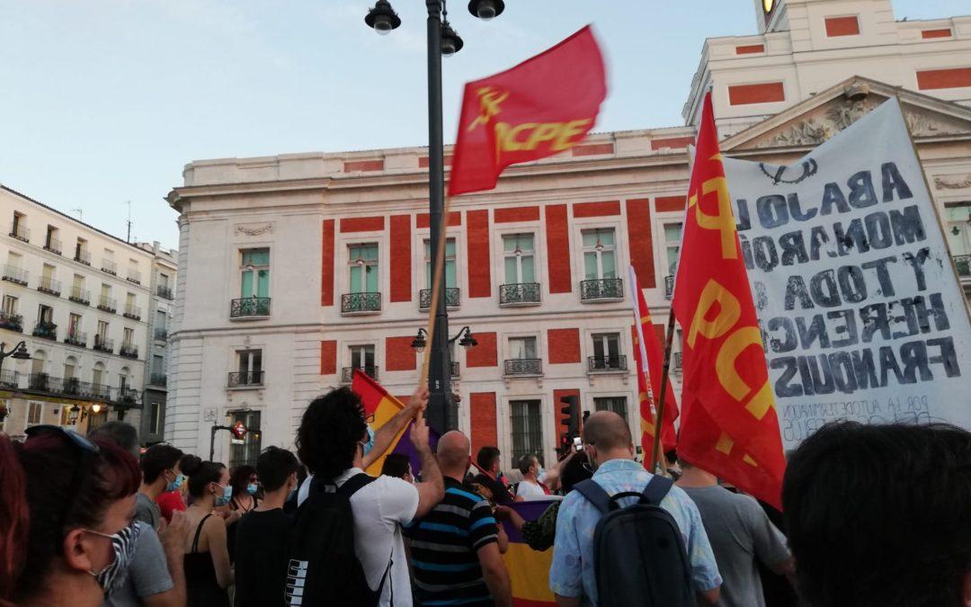[Madrid] La delegación del gobierno de Madrid trata de impedir una manifestación contra el delito del Borbón