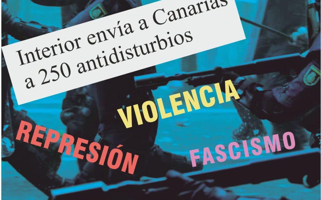 [Canarias] El Ministerio del  Interior envía 250 antidisturbios