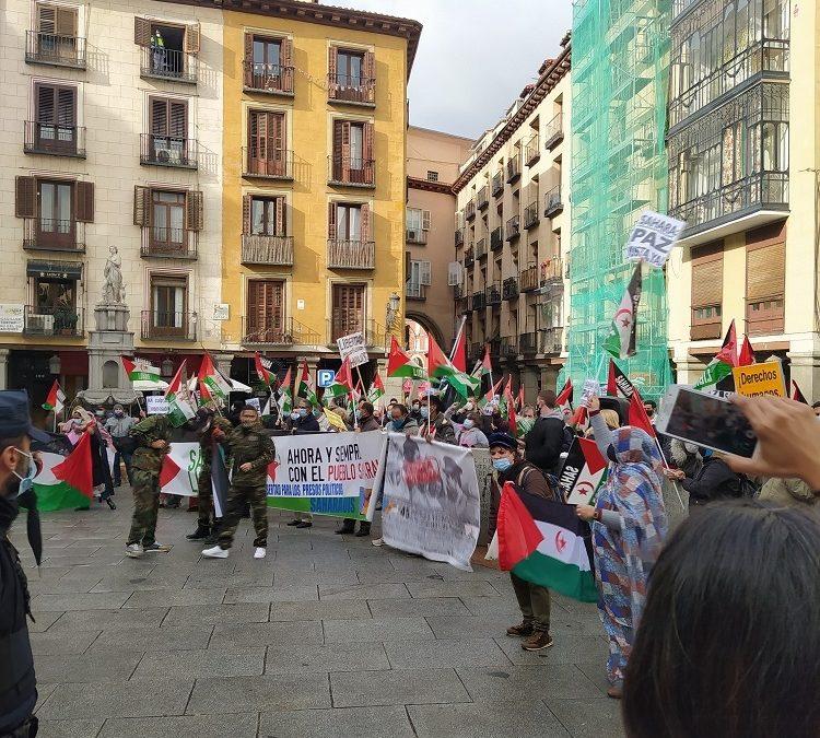 Crónica concentración saharaui 10 diciembre Madrid