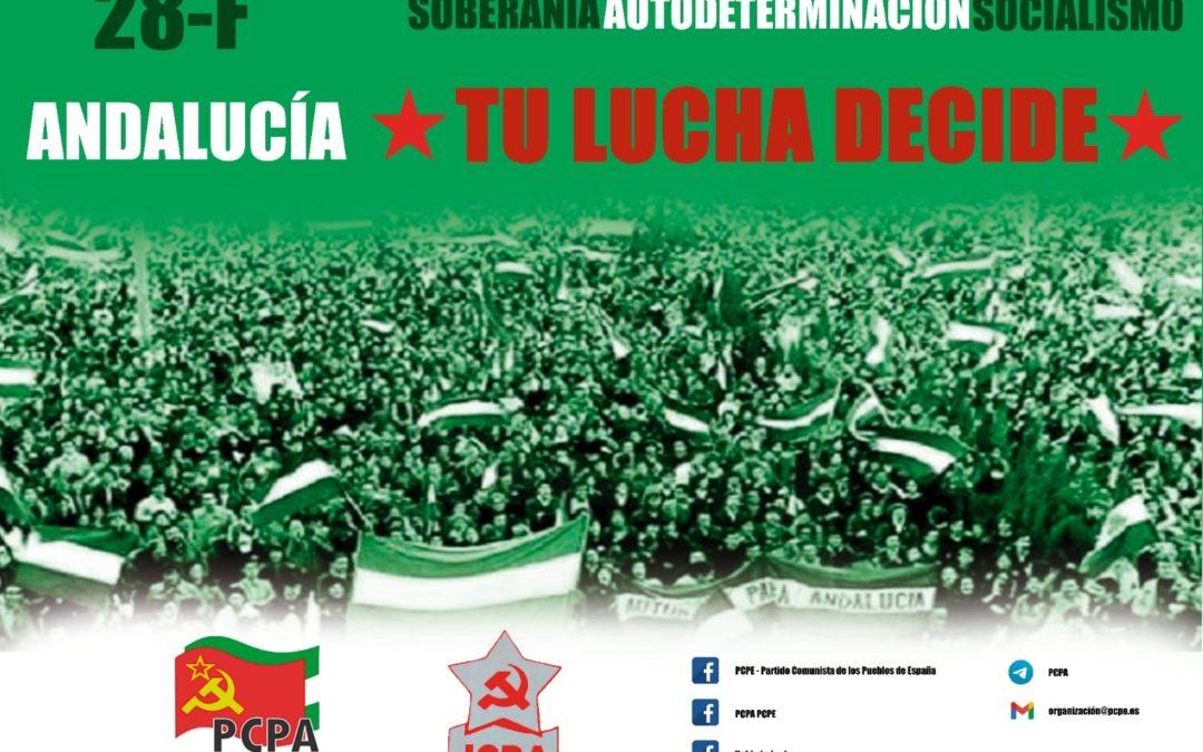 [Andalucia] El PCPA-PCPE reivindica el 4 de diciembre como día de Andalucía