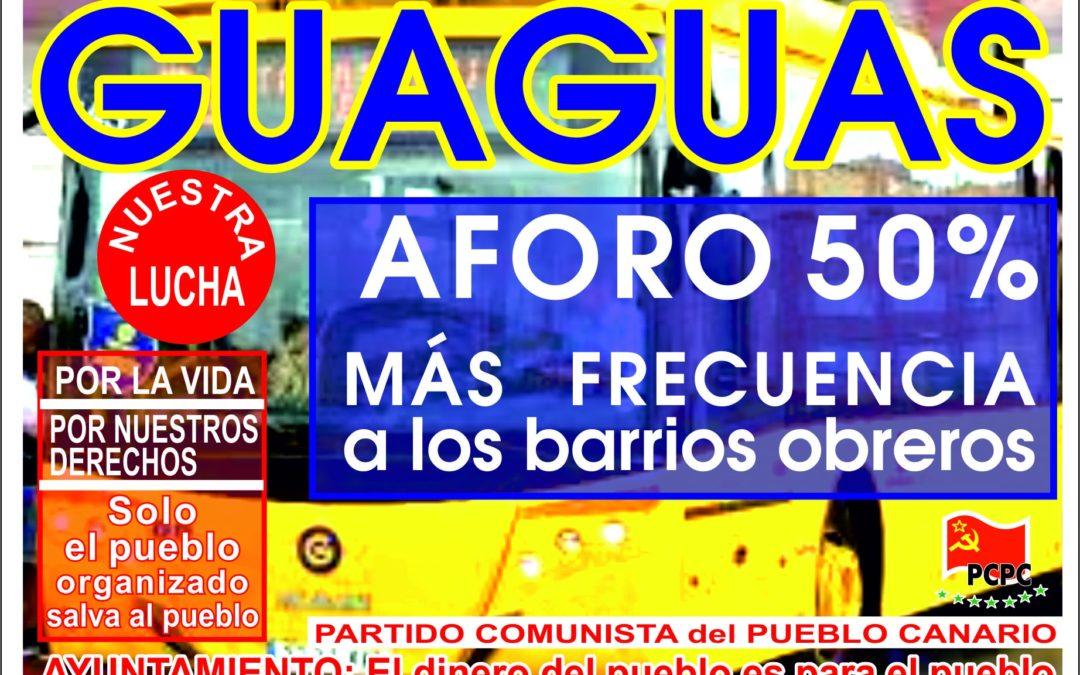 [Canarias] Por un transporte público Seguro. Defendamos la salud del pueblo frente a la COVID-19