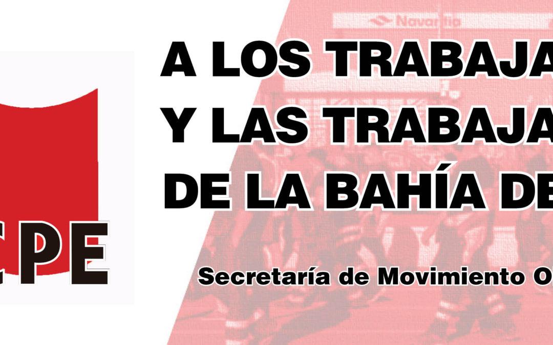 A los trabajadores y las trabajadoras de la bahía de Cádiz