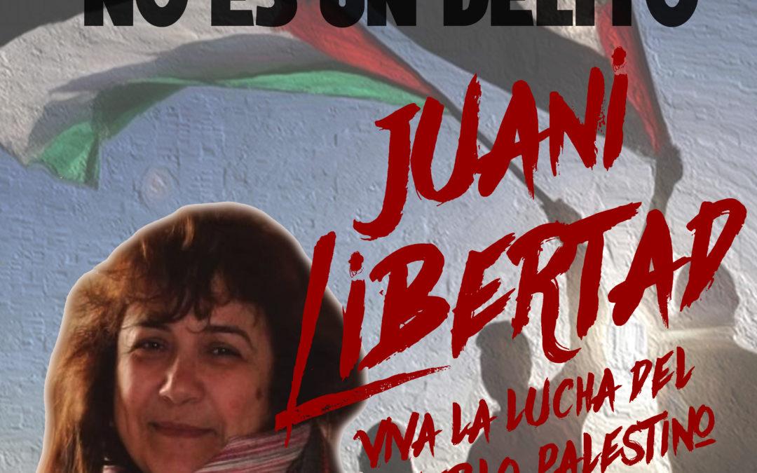 Comunicado urgente ante la detención de la compañera Juana Ruiz Sánchez