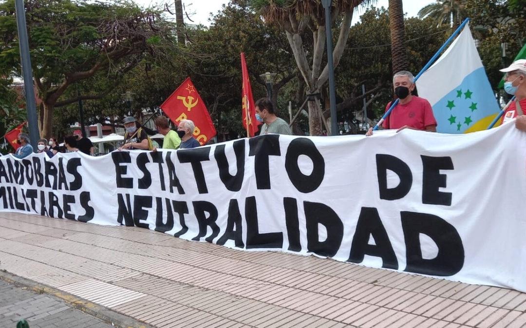 """[Canarias] Concentración de protesta por las maniobras militares de la OTAN """"African Lion 2021"""""""