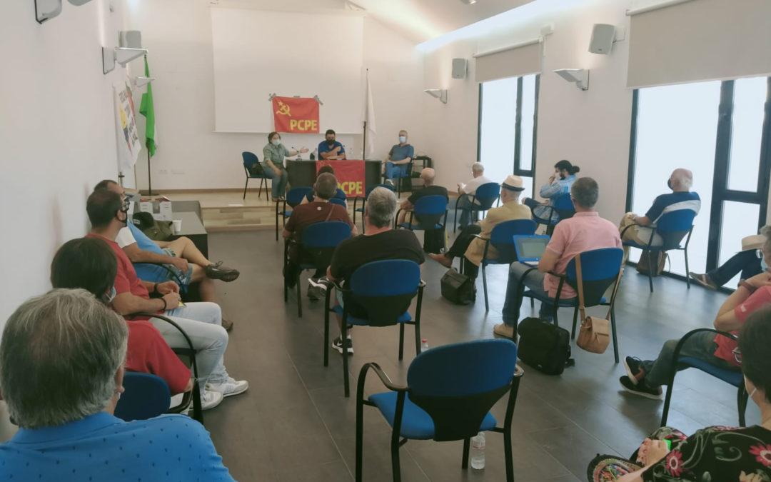 [Aguilar de la frontera] Encuentro del Secretario General del PCPE con militantes del PCPA-PCPE