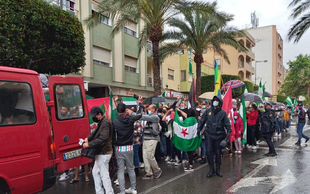 [El ejido] Manifestación en solidaridad con Palestina