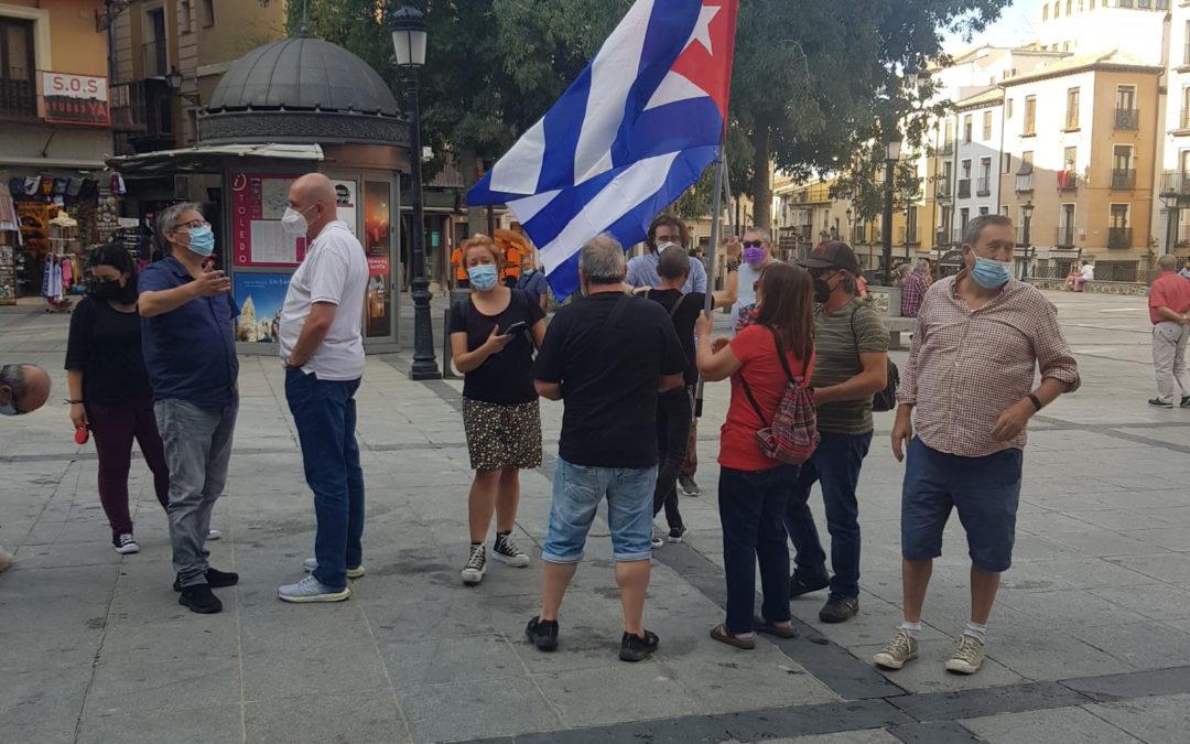 [Toledo] Concentración contra el bloqueo contra Cuba