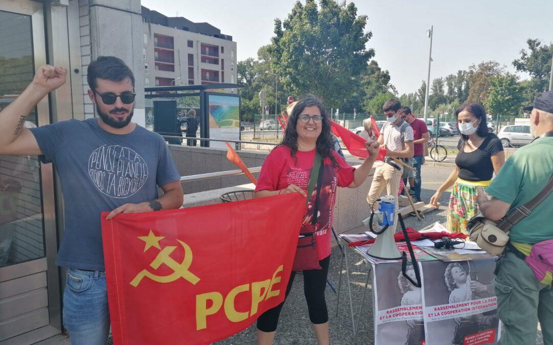El PCPE acude a un acto contra la OTAN en Toulouse convocado por el POLO de Reconstrucción Comunista en Francia (PRCF)