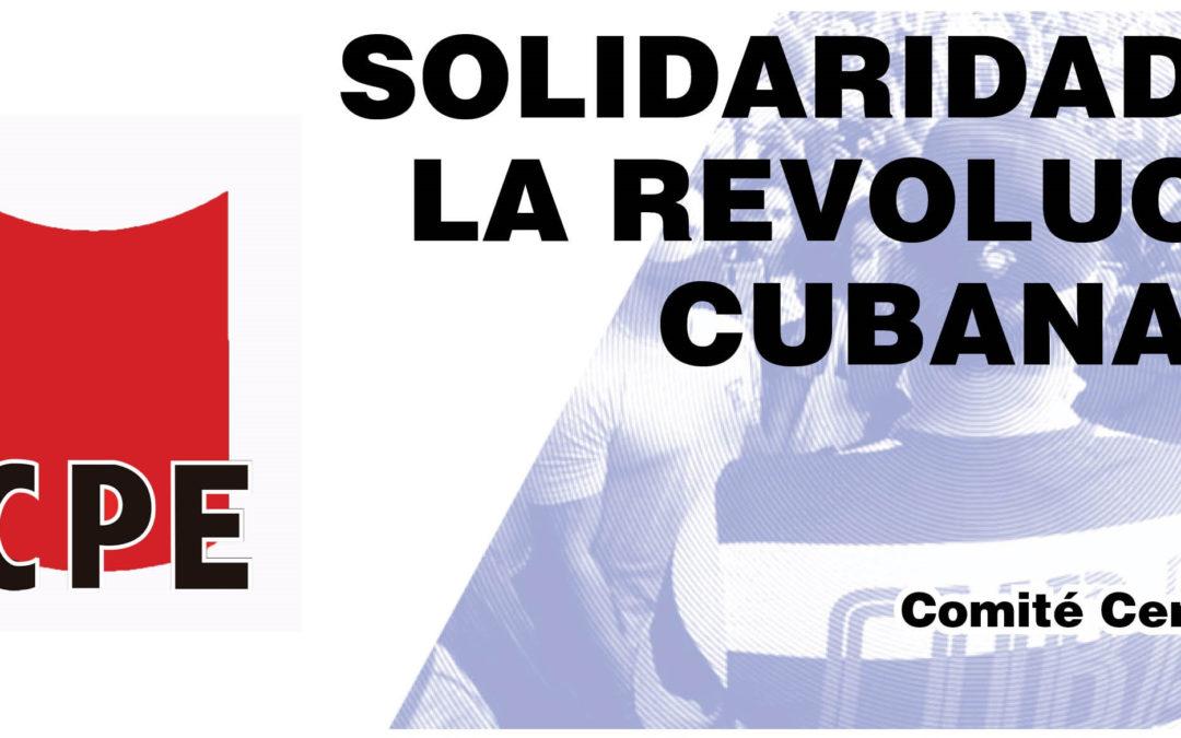 Resolución del V pleno del Comité Central del Partido Comunista de los Pueblos de España (PCPE) en solidaridad con la revolución cubana.