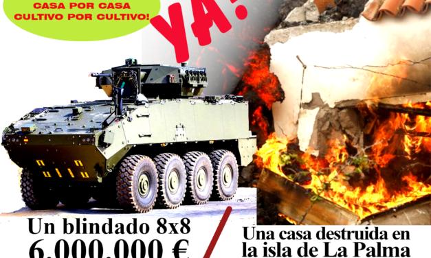 ¡Menos gastos militares, más ayudas por el volcán!