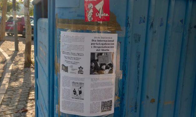 [TOLEDO] Pegada de carteles por el día internacional por el aborto libre